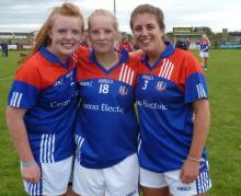 Jennifer Moran, far right with two team members