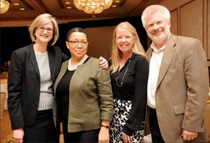 Veronica Todaro, VP, National Programs, Parkinson's Disease Foundation, Anne Beal, MD, MPH, Chief Patient Officer, Sanofi, Suzanne Schrandt, JD, Deputy Director of Patient Engagement, PCORI & Lode DeWulf, VP, Patients Affairs, UCB Networking
