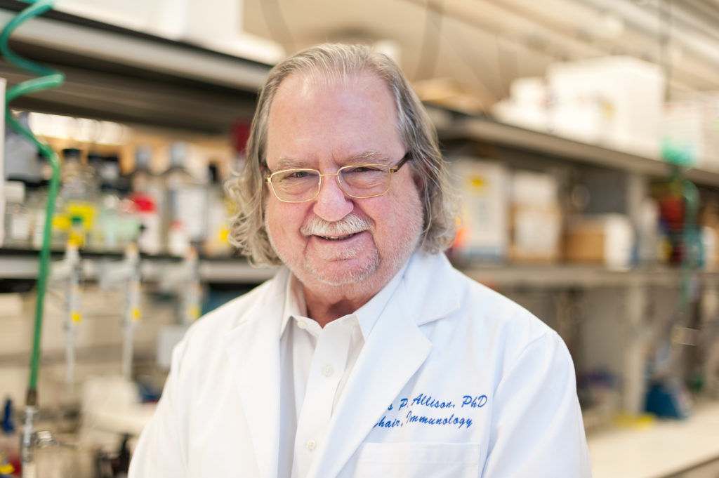 Dr. James P. Allison in his laboratory