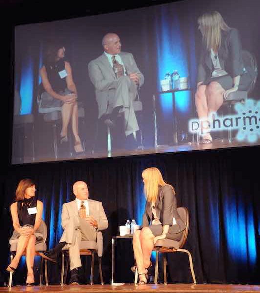 Eli Lilly's Katherine Vandebelt hosting DPharm 2015 session with Wilmington Health, CEO Jeff James and PMG Research's CEO, Jennifer Byrne.
